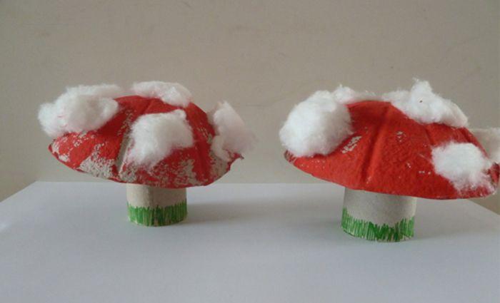 Knutselwerkje: paddenstoel maken