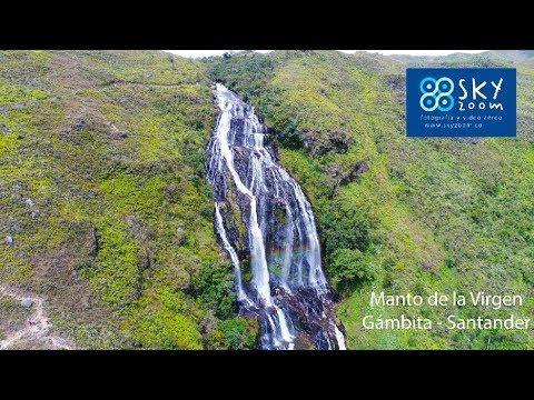 Cascada El Manto de la Virgen – Gámbita – Santander..Drones Colombia. La cascada el Manto de la Virgen en Gámbita – Santander. Admire su imponencia desde los drones de Sky Zoom. Sin lugar a dudas uno de los lugares más impresionantes de Colombia que hay que visitar.