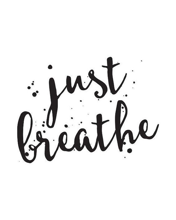 Image result for just breathe white background