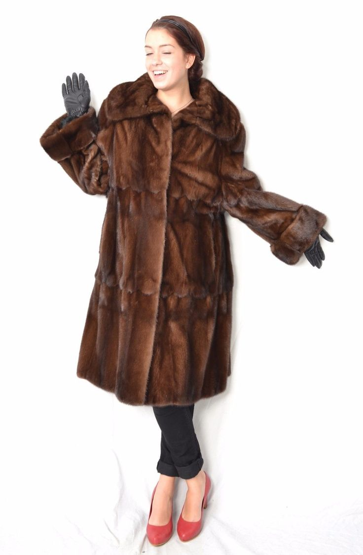 US39 soft Mink Fur Coat Jacket Swinger skin on Skin PELLICCIA VISONE ca. XL | eBay