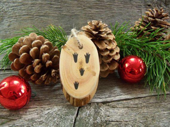 Christmas Tree Ornament with Rabbit Tracks. by CowboyCountryArt