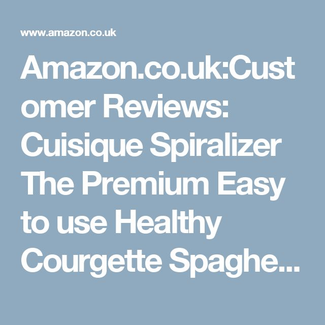 Amazon.co.uk:Customer Reviews: Cuisique Spiralizer The Premium Easy to use Healthy Courgette Spaghetti Pasta Maker, with Extra 4 Blade Bundle including - Fruit Slicer, Mandolin, Vegetable Cutter and Juicer - with a Unique 1 Litre Spiral Catcher