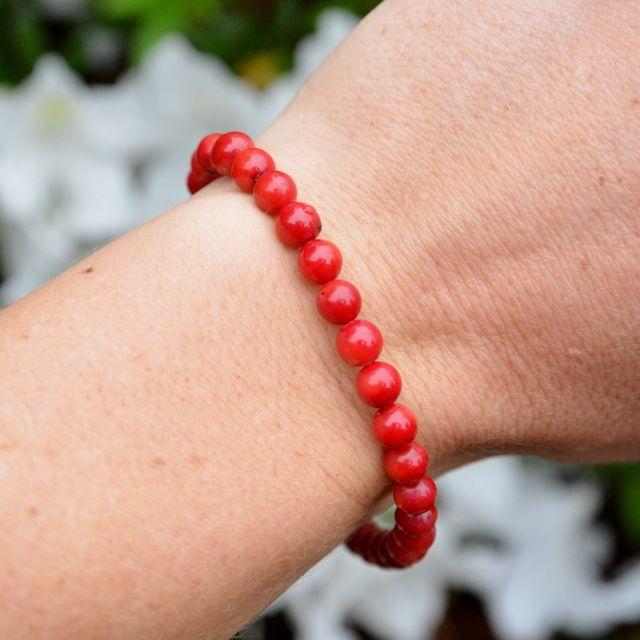 The stunning red Coral Chic Bracelet. Coral gemstones, 100% sterling silver. Original Designs. Shop Now.