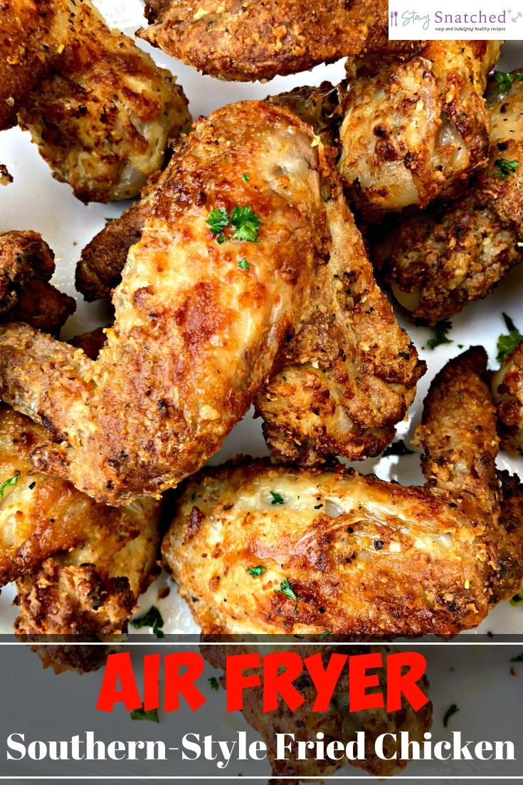 Air Fryer Traditional Southern Soul Food Buttermilk Fried Chicken Is A Quick And Air Fryer Recipes Chicken Chicken Wing Recipes Air Fryer Recipes Chicken Wings