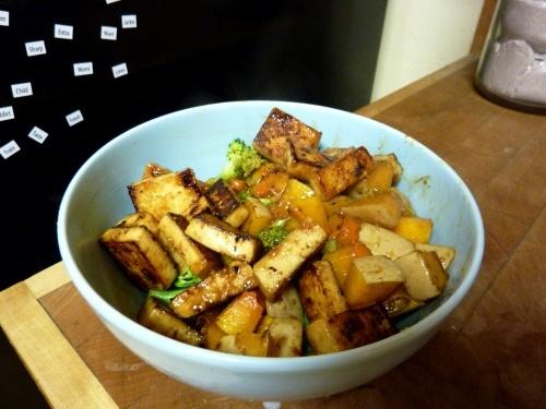 Maple-Glazed Tofu With Spaghetti Squash Recipes — Dishmaps