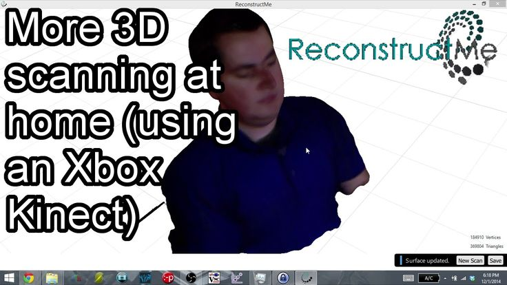 ReconstructMe - 3D Scanning using an Xbox Kinect!