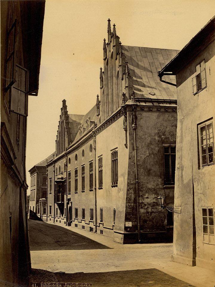 Kraków - ciekawostki, tajemnice, stare zdjęcia·   Biblioteka Jagiellońska na rewelacyjnej jakościowo fotografii Ignacego Kriegera. Wykonana w 1875 roku!