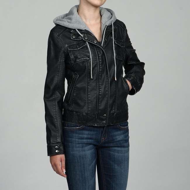1000  ideas about Leather Jacket With Hood on Pinterest | Leather