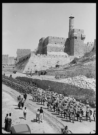 The Scots Guard, in Palestine 1936.