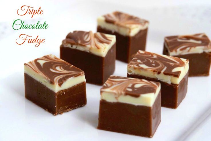 Triple Chocolate Festive Fudge