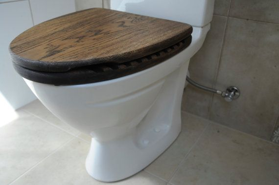 Good SAILOR Oak Wood Toilet Seat Rustic Wooden By ValmieraDesign