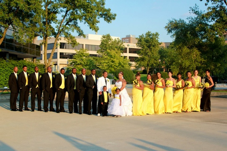 The Fantabulous Wedding Party!! The Wedding Colors Were