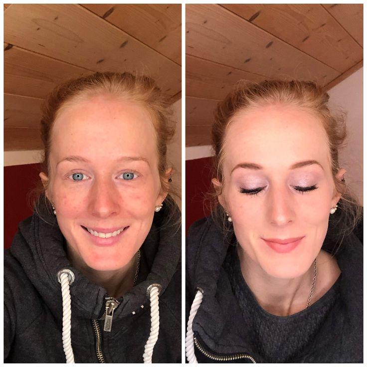 Vorher-Nachher Make-up in 2020   Blonde augenbrauen