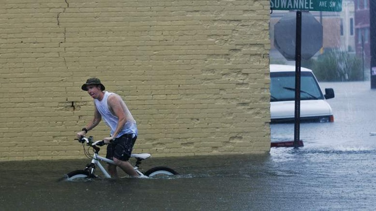 Now THAT'S a puddle !!!    Tropical Storm Debby