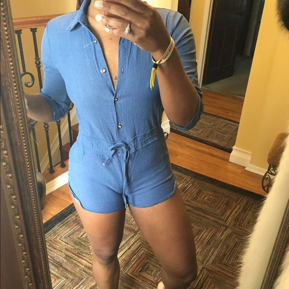 Blue jean jumpsuit Pre owned Other