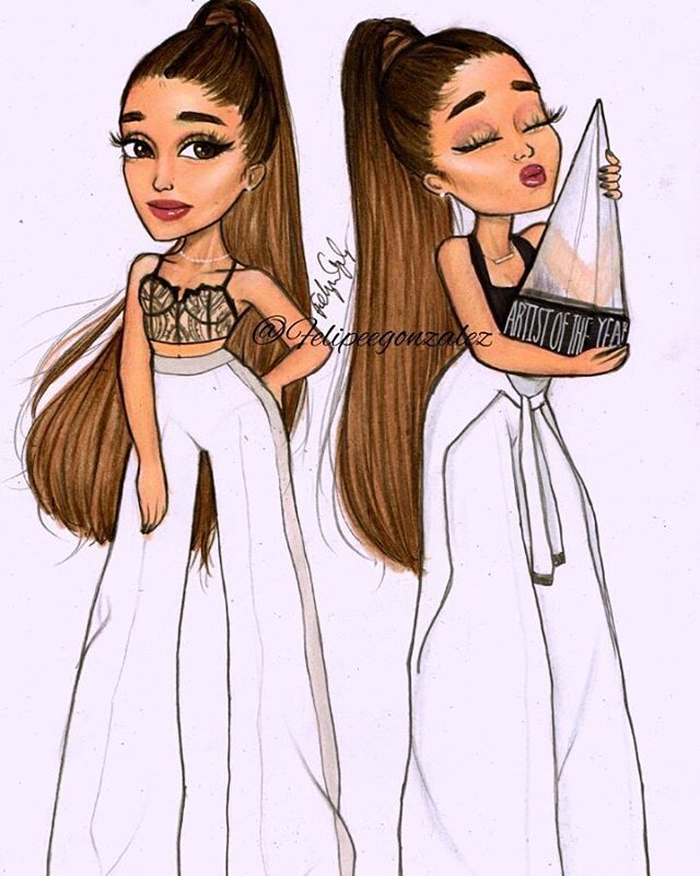 @arianagrande at the American music awards last night // pls tag her and follow my personal @felipegoca if you want btw ARTIST OF THE FUCKING YEAR!!!! Im so damn proud of you ari! That is a big award! ICON