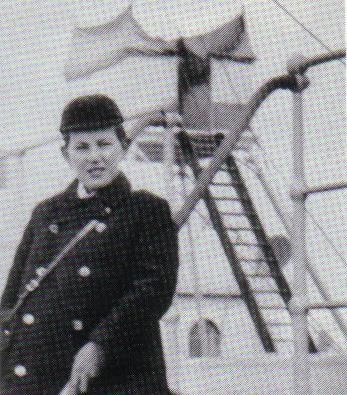 Another photo of young Jack Odell on deckRms Titanic