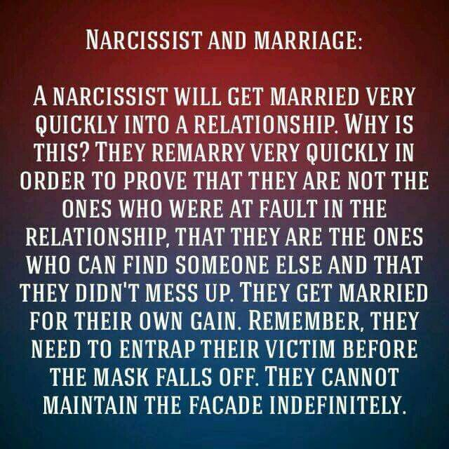 Narcs, and marriage (goes for dating too. Relationship to relationship.)