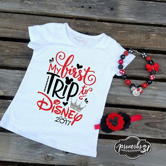 First Trip to Disney - Girl's Fit Shirt
