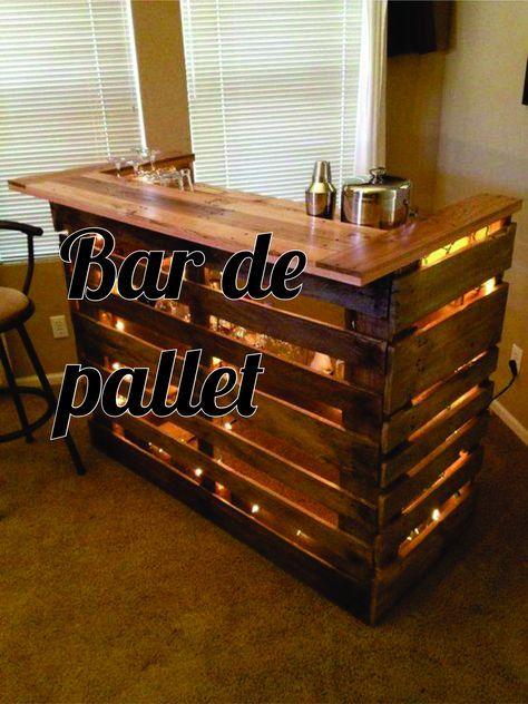 Veja fotos para fazer seu bar de pallet gastando pouco, uma adega de vinho e suporte para garrafas e copos, tudo usando os pallets sem gastar nada.