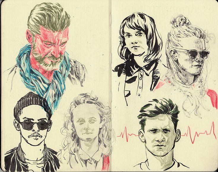 drawing Illustration fashion Moleskine sketchbook