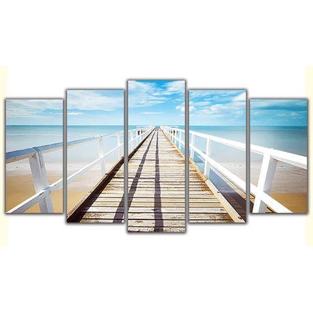 Biały pomost - poliptyk na płótnie - 5 części dla niesamowitego efektu estetycznego #fedkolor #biały #pomost #pejzaż #obraznapłótnie #obrazzezdjęcia #fotoobraz #poliptyk #oryginalne #image #obraz #wnętrza #pomysły #inspiracje #diy #aranżacje #dopokoju #dosalonu #wakacje #morze