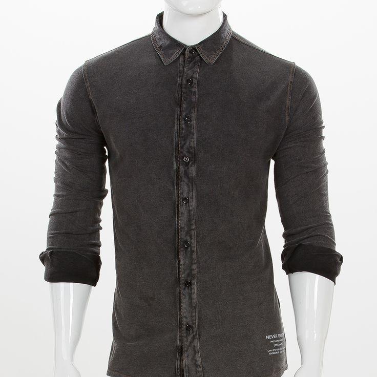 Camicia da uomo colore nero, regular fit, by Never Enough.