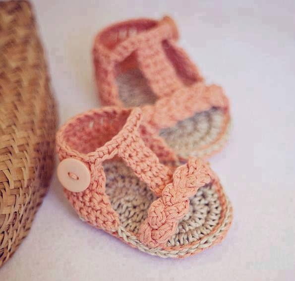 cool El Örgüsü Bebek Sandalet Modelleri