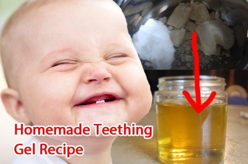 Homemade Teething Gel Recipe http://naturehacks.com/natural-remedies/homemade-teething-cream-2/