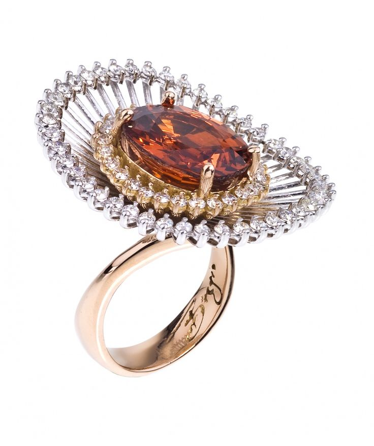 18kt Rose Sistina Garnet Ring - Cocktail - Rings - Jewellery & Gifts