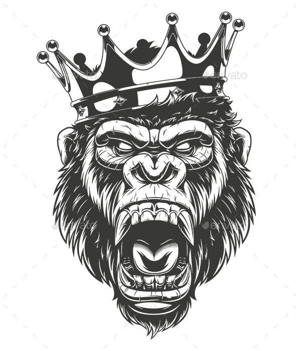 3cbb0ad8c Pin by snobink on Animals | Tattoo drawings, Gorilla tattoo, Monkey tattoos