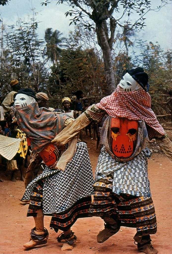 "Africa | Gelede Masqueraders.  Yoruba people, Nigeria. | © ""The Dance, Art and Ritual of Africa"".  Michel Huet, Jean Laude, Jean-Louis Paudrat.  Published in 1978, Pantheon Books"