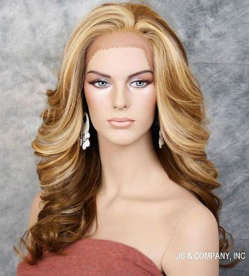 Blonde-Mix-HEAT-SAFE-Lace-Front-wig-Roller-curls-Wavy-layered-NBY-2216