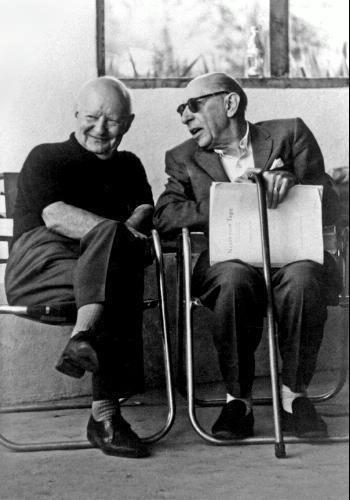 Paul Hindemith and Stravinski, Santa Fe, 1961.