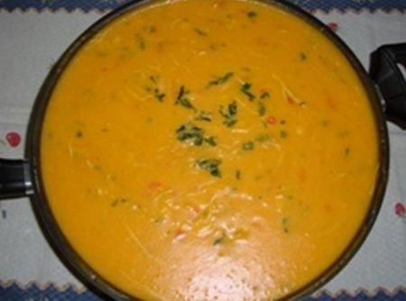 Caldo Cremoso de Frango - Veja mais em: http://www.cybercook.com.br/receita-de-caldo-cremoso-de-frango.html?codigo=109857