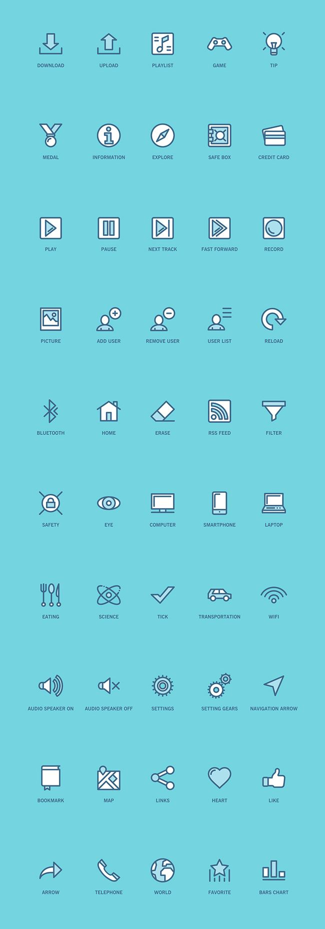 100 Free Web and App UI Icons (PSD, SVG, EPS, PNG, Iconfont)