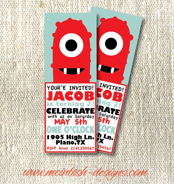 27 best diy yo gabba gabba images on pinterest | yo gabba gabba, Birthday invitations