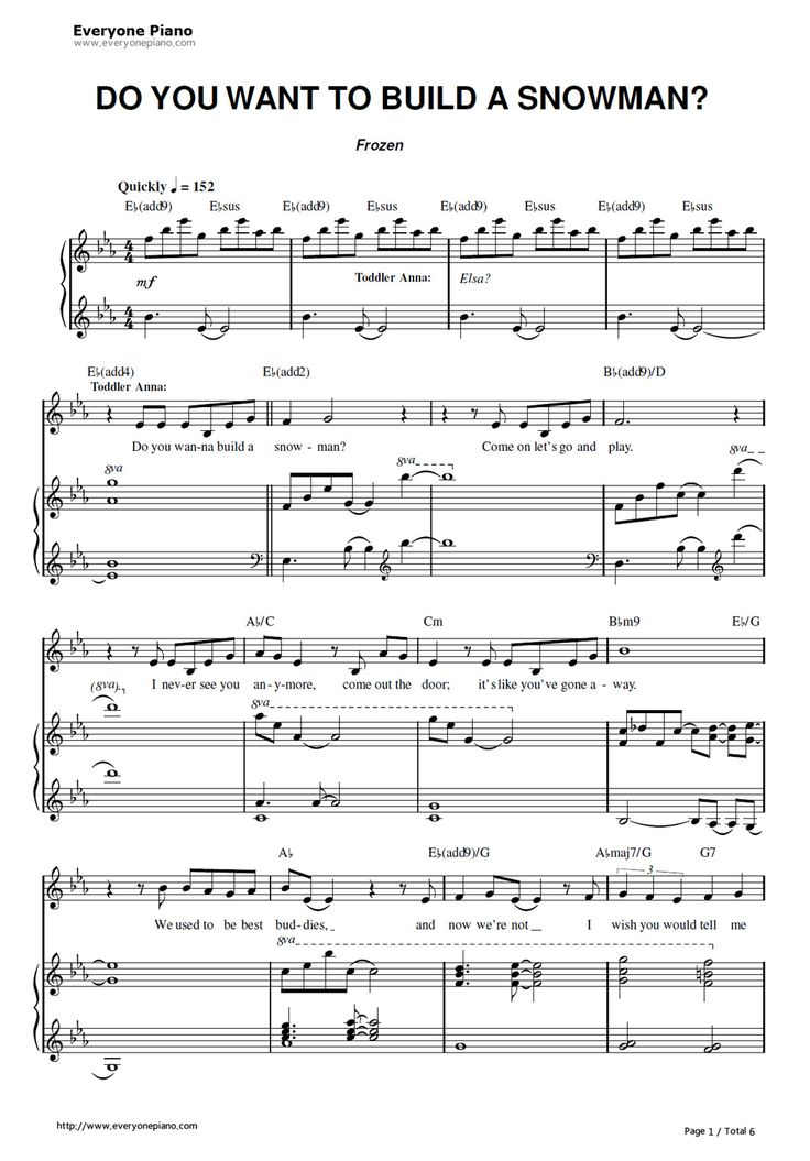 Free Do You Want to Build a Snowman-Frozen OST Sheet Music Preview 1