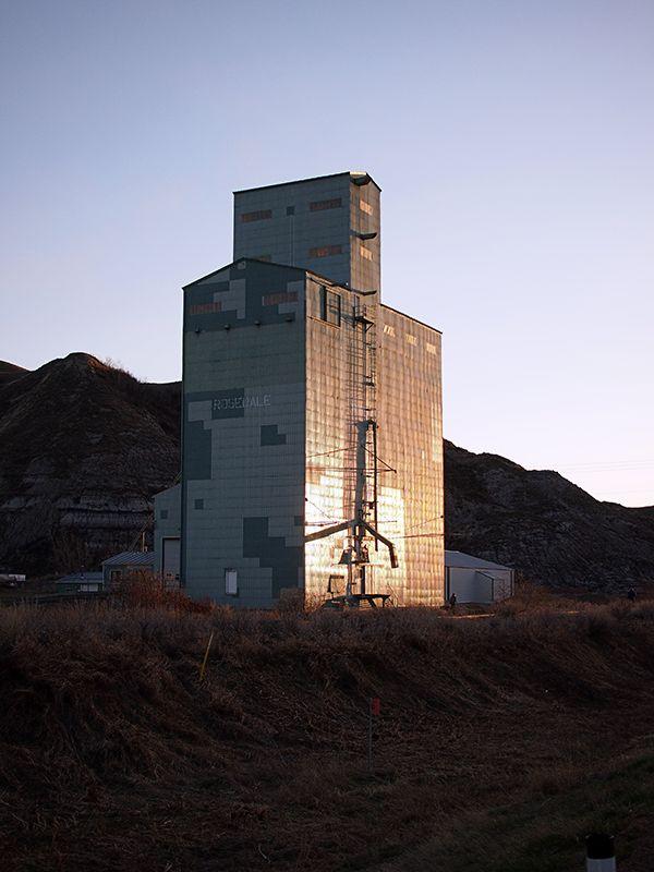 Rosedale Grain Elevator, in Rosedale, Alberta.