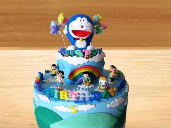 Cool Order Online Doraemon Cake For Kids Unique Designer Birthday Personalised Birthday Cards Epsylily Jamesorg