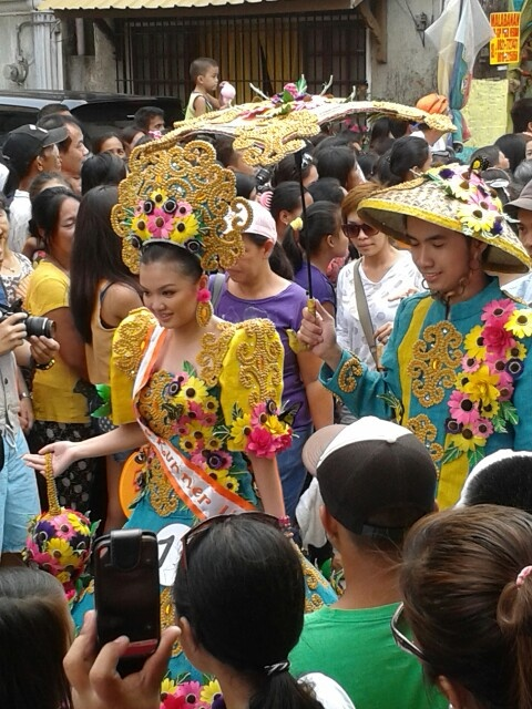 Gowns inspired by the Pahiyas Festival