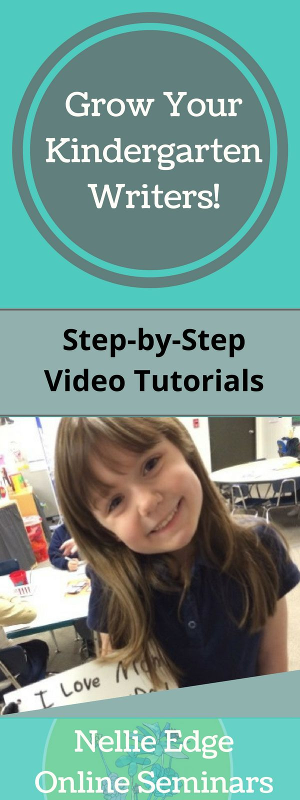 Grow Your Kindergarten Writers with Nellie Edge Online Seminars. Earn PD credits. Step-by-step video tutorials right away for your classroom for awesome results. This comprehensive writing program includes writing workshop activities, prompts, editable parent letters, authentic sight word work. Inspire your students to love learning. Proven strategies https://onlineseminars.nellieedge.com/ http://www.nellieedge.com/read-sing.htm#program | printables + sight word work + prompts + writing…