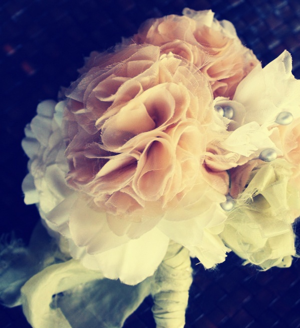 152 best Fabric wedding bouquets images on Pinterest   Fabric ...