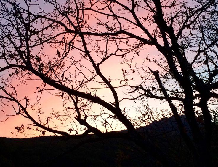 Precioso atardecer en Miraflores de la Sierra