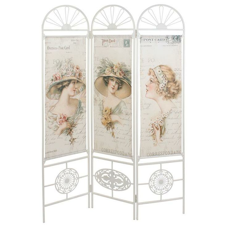 Metal - canvas #screen with lady deco! www.inart.com