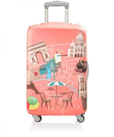 Dreaming of a Parisian escape? Cover your bags in the Urban Paris LOQI Luggage Cover - visit www.hardtofind.com.au #gift #travel #fun