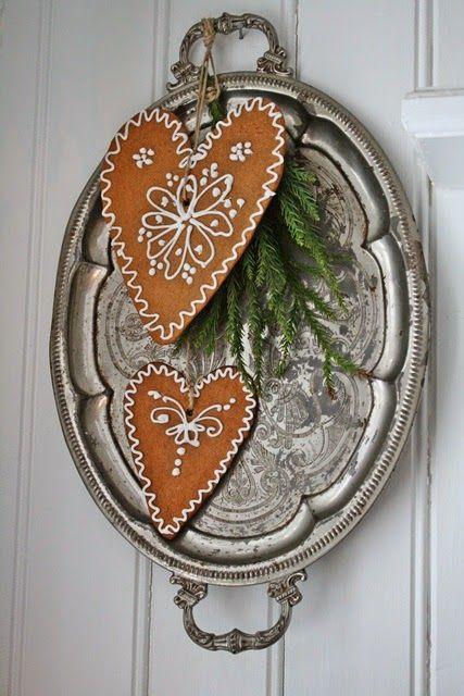 Cute DIY idea for gingerbread cookie decoration for Christmas   VIBEKE DESIGN: Andre og siste runde : Valg av julebilder