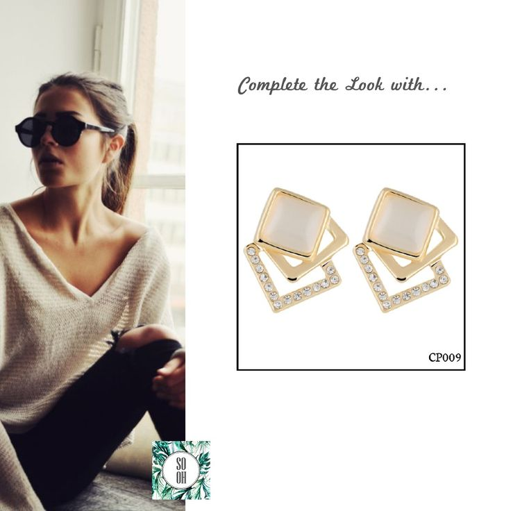 Ref: CP009 Medidas: 2.1 cm x 1.5 cm  So Oh: 4.99 #sooh_store #onlinestore #brincos #earrings #fashion #shoponline #inspiration #styleinspiration #aw2016 #aw1617 #winter #style