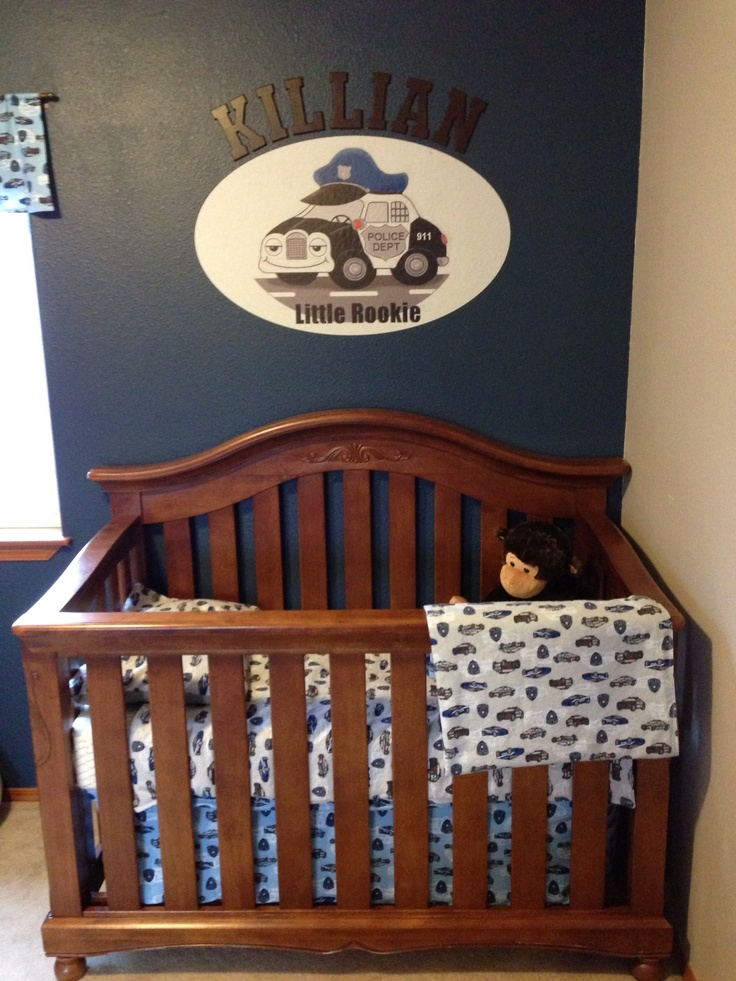 Police baby nursery.....LOVE! Even love the name! Will have to add it to our list!