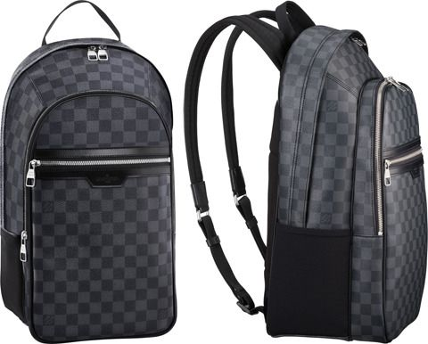 """Louis Vuitton Michael Back Pack in Damier Graphite Canvas...Had to stay true to the """"Fancy"""" print by grabbing this for myself way back when...It has rarely left my back since."""